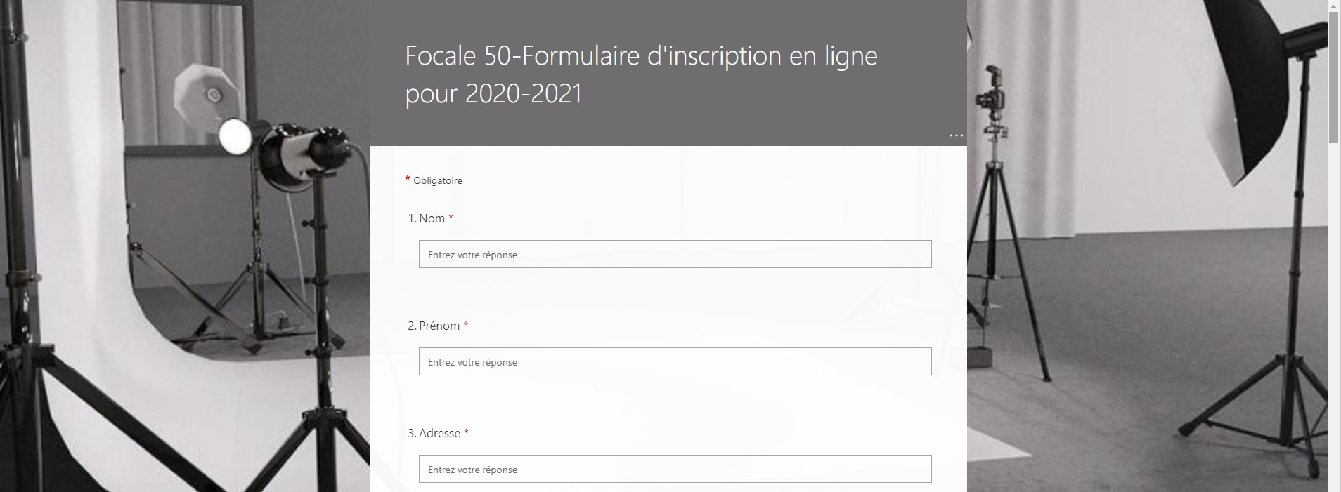 inscription en ligne F50